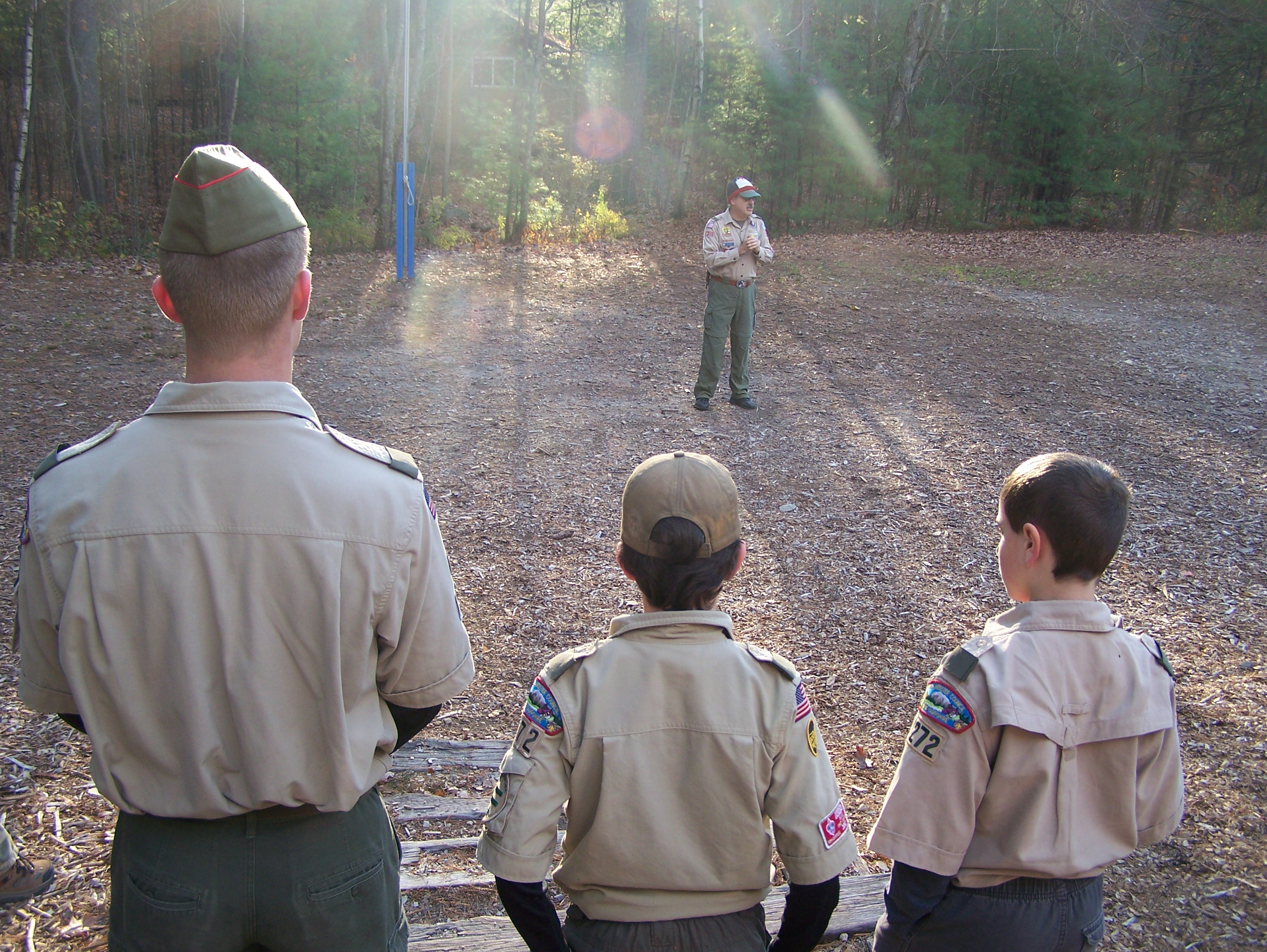 Older scouts mentor the younger scouts